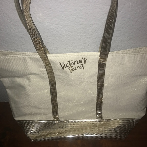Victoria's Secret Handbags - Sparkly gold, VS tote